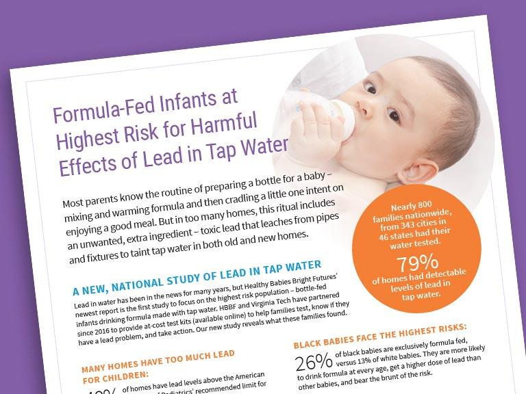 Formula-Fed Infants at Highest Risk for Harmful Effects of Lead in Tap Water
